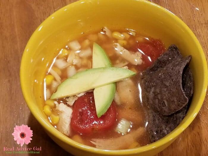 Enjoy a hearty soup like this Southwestern Turkey Soup with Avocado Recipe