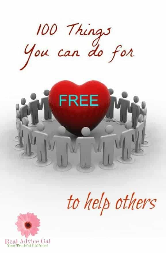 100 things you can do to help others for FREE