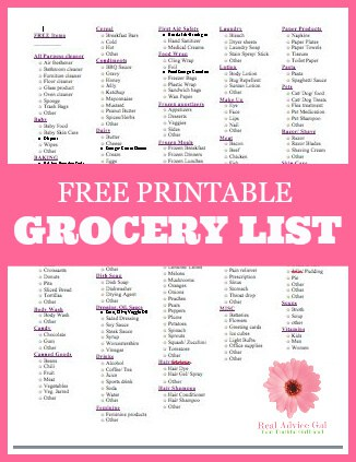 Save money by planning your grocery list. Print my printable grocery list and use it to stay on a budget when buying your family essentials