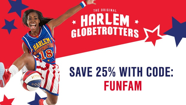 Have fun with the family by watching Harlem Globetrotters. Grab this coupon to save on your next Harlem Globetrotters tickets