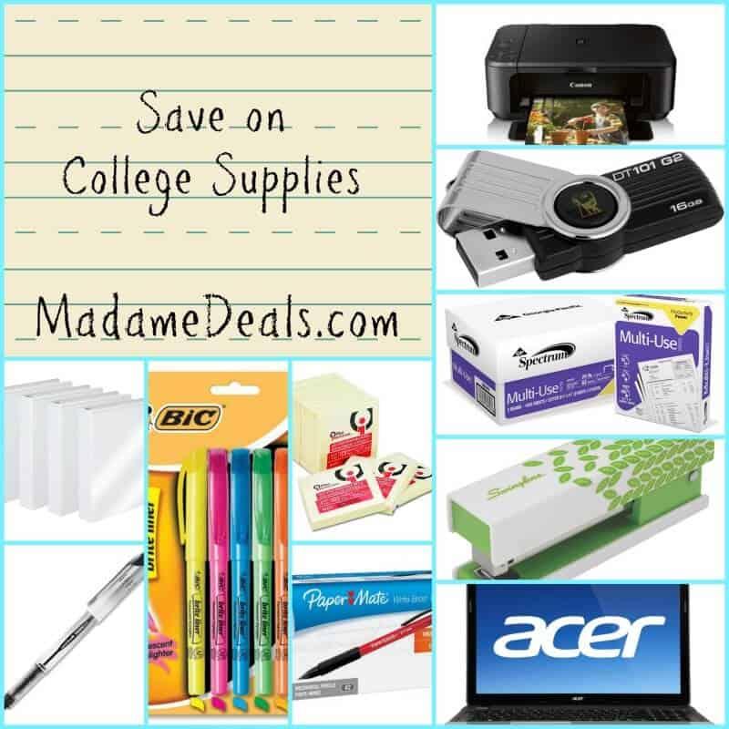 College supplies 11