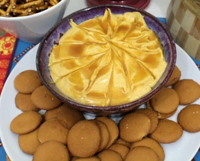 Salted Carmel Pumpkin Cheesecake pumpkin dip