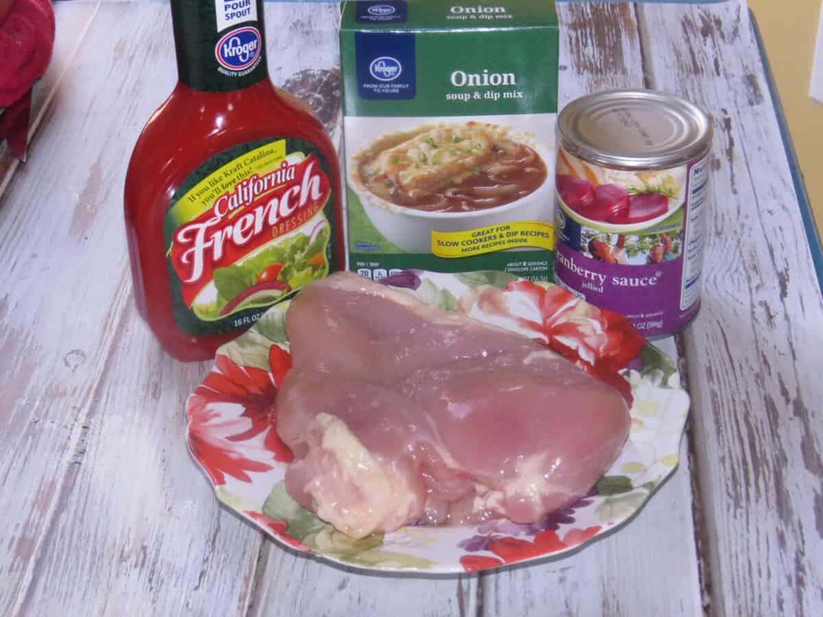 crockpot cranberry chicken