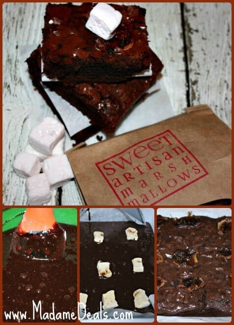 Marshmallow Brownies Steps