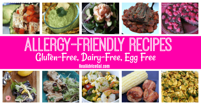 Are you suffering from food allergy? Try these allergy-friendly recipes that are gluten free, dairy free and egg free