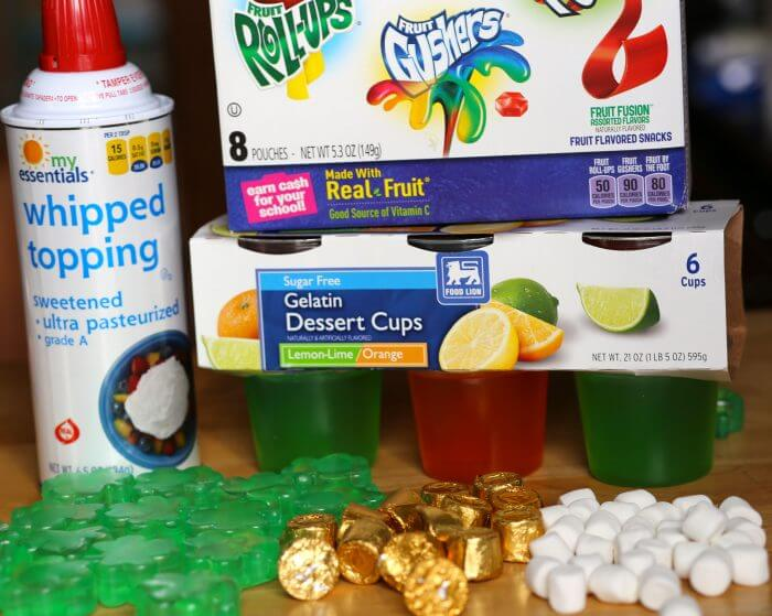 This is a jello recipe that kids can make . It is also a nut free option for a school treat for st. patty's day.