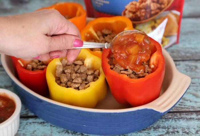 Salsa for healthy stuffed peppers recipe.