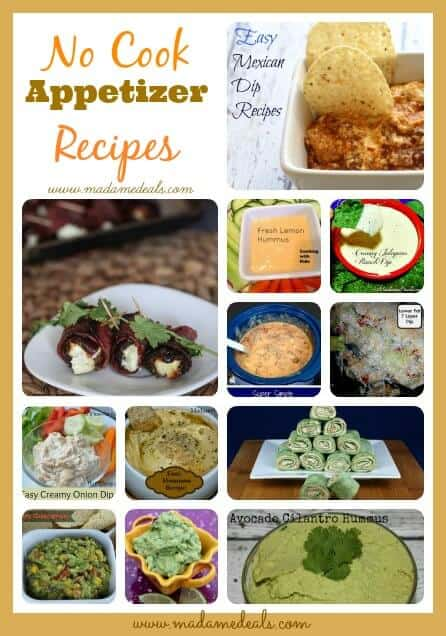 No Cook Appetizer Recipes
