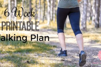 Start a healthy lifestyle by walking more. Track your walking progress with this free printable walking plan.