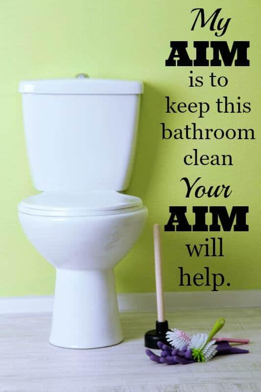bathroom clean up tips