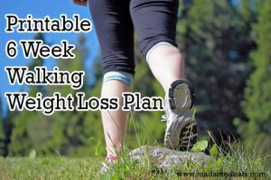 Walk your way to a healthy body. Get this free printable 6 week walking plan