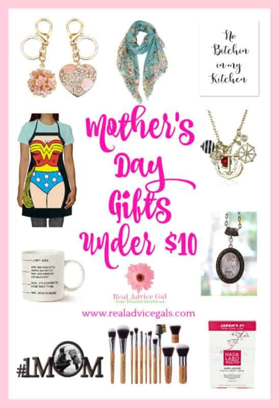Cool Mother's day gifts under $10. Great gift ideas to surprise a mom on her special day.
