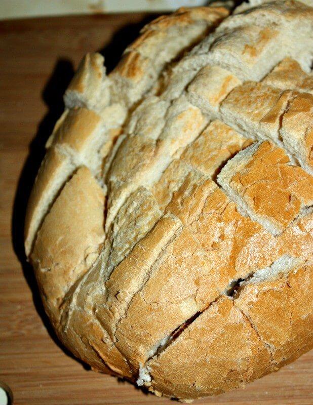 cheesy garlic bread prep