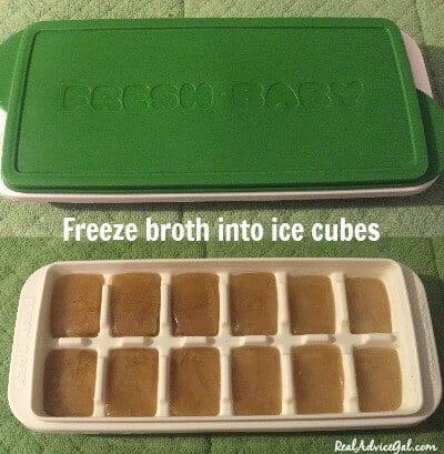 freeze broth to save money