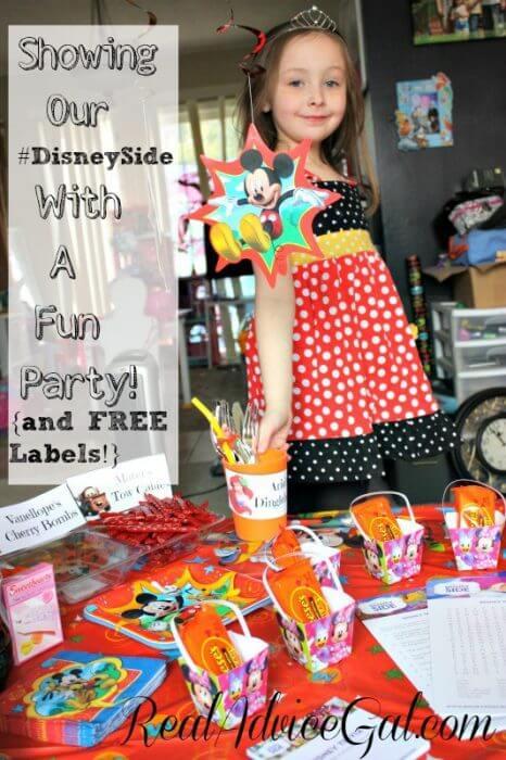 #DisneySide Party Fun + FREE Printables