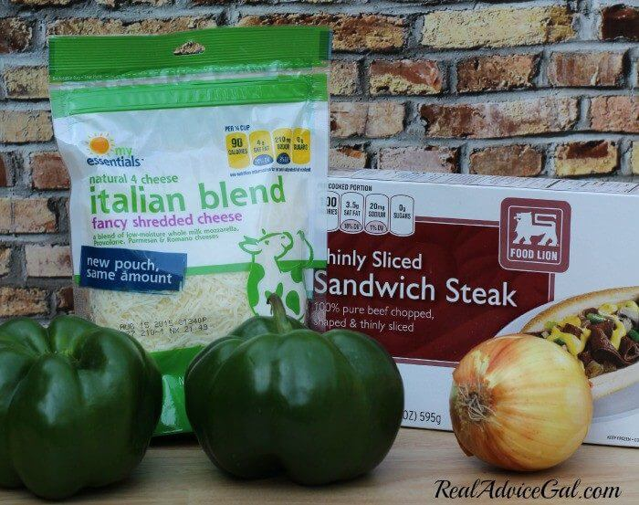 Philly Cheesesteak stuffed peppers recipe ingredients