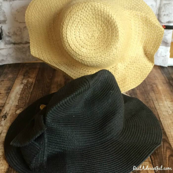How to reshape straw hats