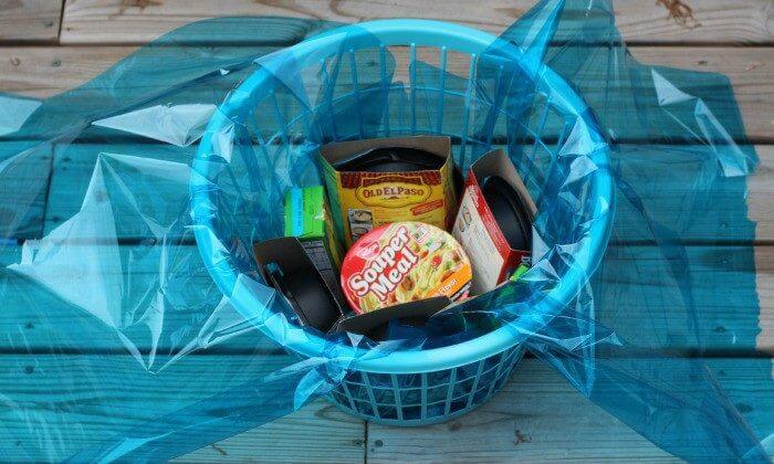Freshman Survival Kit put meals in bottom