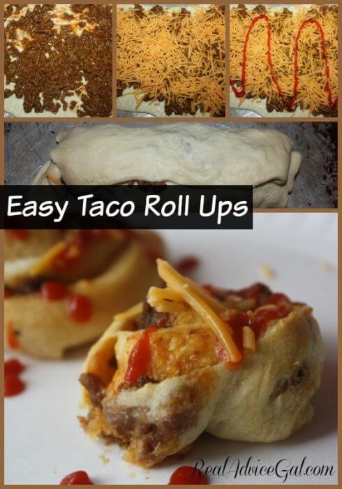 Easy Taco Roll Ups Recipe