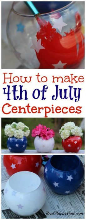 How to make 4th of July Centerpieces