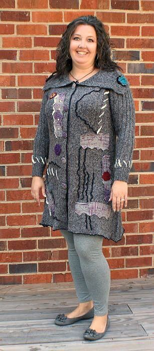 monroe and main casual outfit with splashes of aubergine