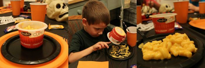 Stouffers Classic Mac N Cheese Cups are the perfect meal to get ready for Halloween night