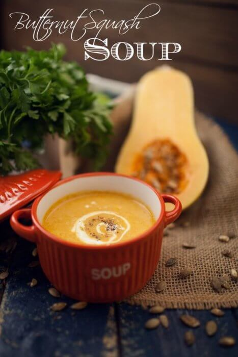 Warm up with a bowl of fall butternut squash soup