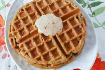Gluten Free Pumpkin Waffles Recipe with Yoplait® Greek Yogurt