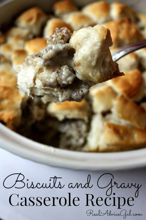 biscuits and gravy casserole recipe
