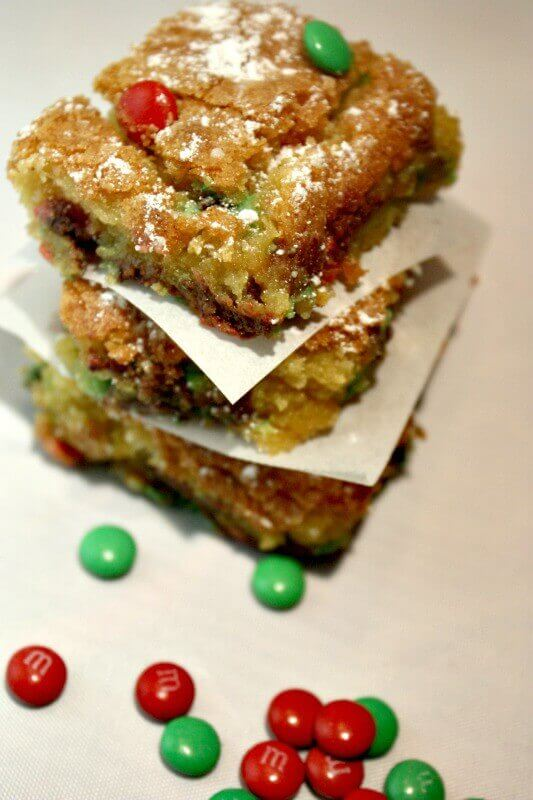 holiday cookie cake bars