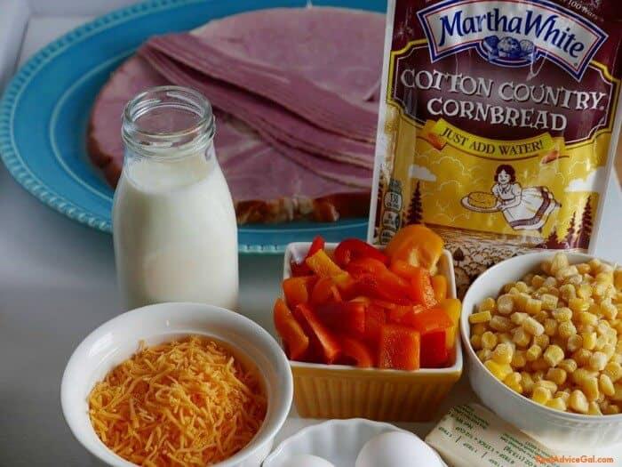 Leftover Ham and Cornbread Casserole Recipe