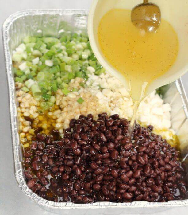 The recipe for ugly dip includes ingredients for a sauce made with vinegar, sugar, and olive oil. It's so flavorful and everyone will love it.