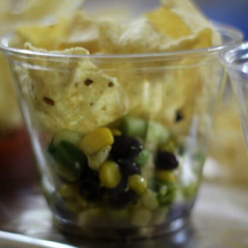 Ugly dip served with scoops