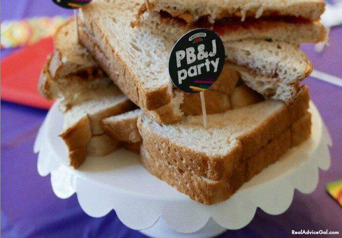 Make a yummy PB&J for your next kids party.