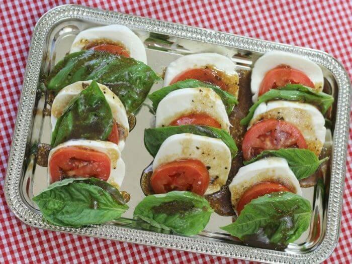 Tomato Mozarella Caprese Salad is a simple and very pretty appetizer