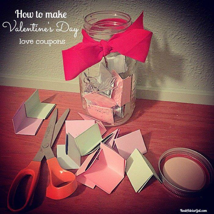 Make Your Own Love Coupons for Valentine's Day