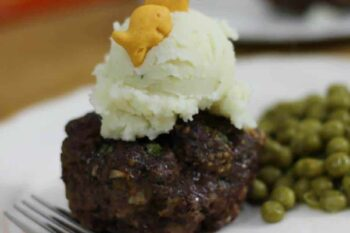 A dinner that my kids love is Goldfish Cracker mini meatloaf