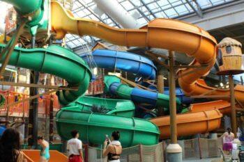 Kalahari Resorts had a ton of fun slides for kids of all ages