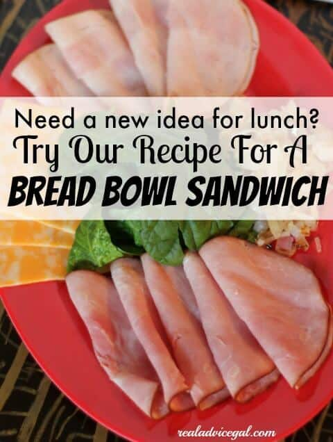 Need a new recipe for lunch try our bread bowl sandwich recipe