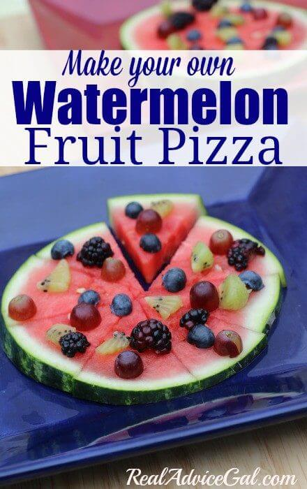 Make your own watermelon fruit pizza recipe