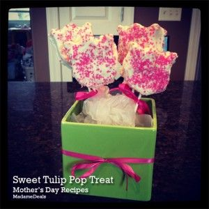 Mothers Day Recipe: Sweet Tulip Pop Treat