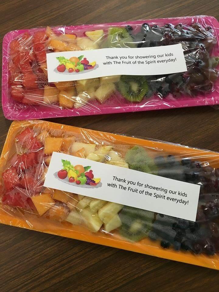 teacher fruit gift