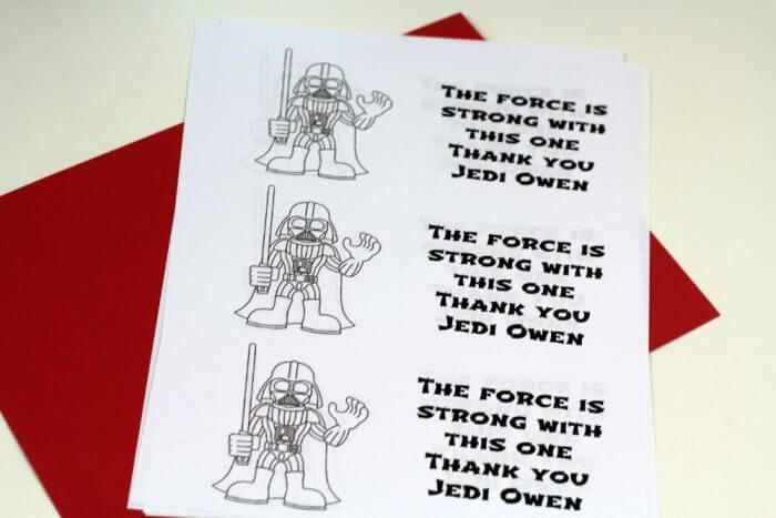 Star Wars Birthday Party Tags for the party favor bags