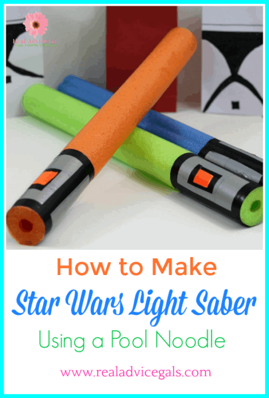 Learn how to make a Star Wars light saber using a pool noodle