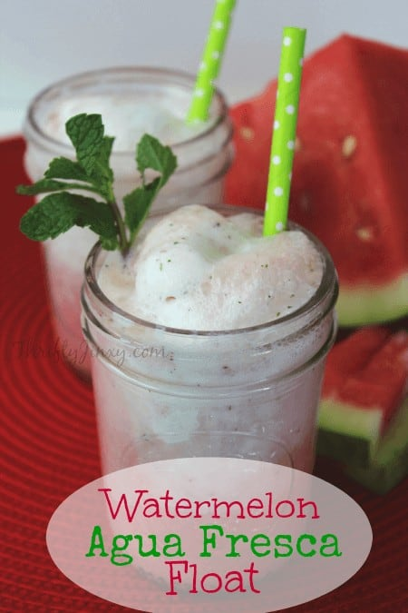 Watermelon Agua Fresca Float Recipe