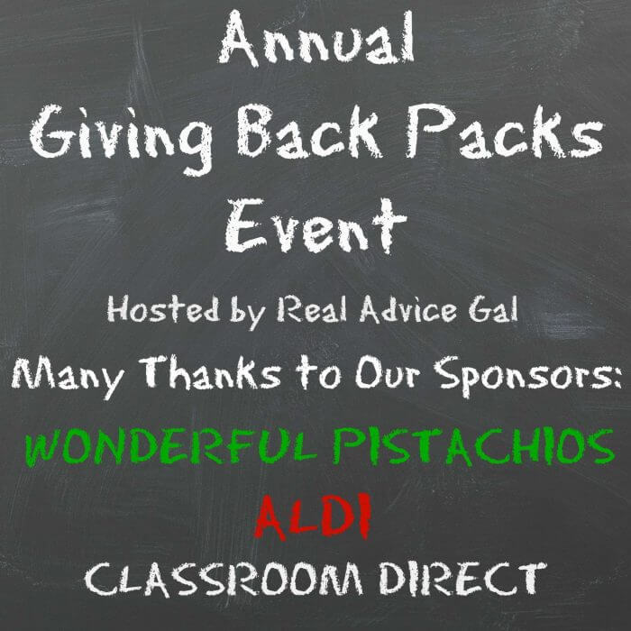 2016 Annual Giving Back Packs Event