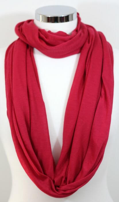 An infinity nursing scarf is the perfect gift for breastfeeding moms who want to nurse their babies discreetly with style.