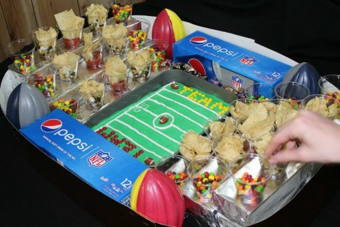 Be prepared to replenish the snack cups at half time