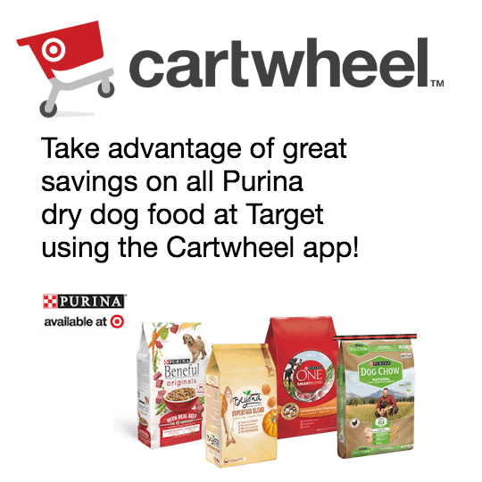 Purina Dry Dog Cartwheel Offer at Target will help you feed your dog well