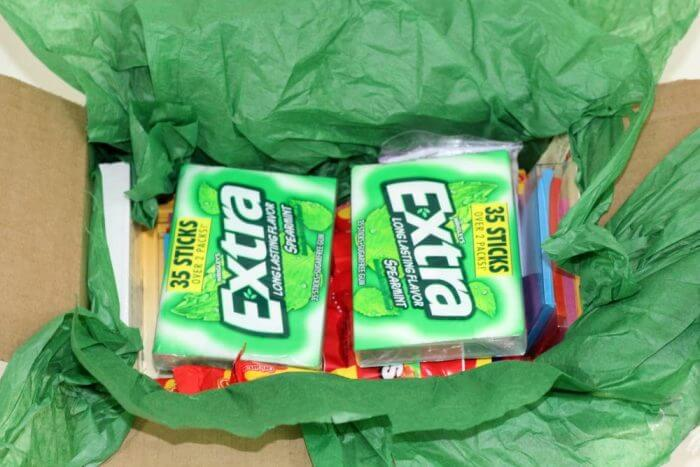 Finals Care Package for College Students should always have lots of Extra gum